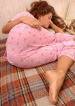 Sleeping Teen Jessica In Pyjamas - Picture 1