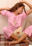 Sleeping Teen Jessica In Pyjamas - Picture 12