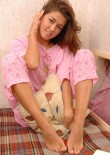 Sleeping Teen Jessica In Pyjamas - Picture 9